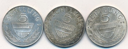 J122-84 - Monnaie Autriche  - Lot De 3 Pièces Argent 5 Schilling - Oostenrijk