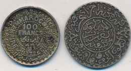 J122-87 - Monnaie Maroc  - Lot De 2 Pièces Argent 100 Francs - Marokko