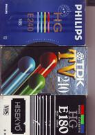 3 Cassettes K7 Videos A Re-enregistrer En Bon état : 2 X 240 Minutes +1x180 Mn - Other