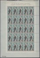 SPANIEN  1411-1412, 2 Bogen (5x5), Postfrisch **. Unsere Liebe Frau Von Europa, Europa CEPT 1963 - 1963