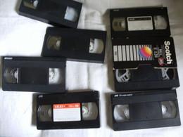 7 Cassettes K7 Videos A Re-enregistrer En Bon état - Other