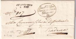 VESCOVATO Per Piadena 8.5.1848 - 1. ...-1850 Prefilatelia