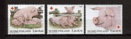 Finlande 1998 N°1393/95 Neufs Croix Rouge Avec Cochons - Unused Stamps