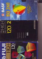 3 Cassettes K7 Videos A Re-enregistrer En Bon état : 1 X 240 Mn Et 2 X 120 Mn - Other