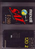 2 Cassettes K7 Videos A Re-enregistrer En Bon état : 1x 120 Mn + 1 X 240 Minutes - Other