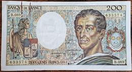 Billet 200 Francs Montesquieu 1991 FRANCE  B.089 - 200 F 1981-1994 ''Montesquieu''