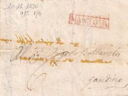 MANTOVA Per Gandino 10.12.1830 - 1. ...-1850 Prefilatelia