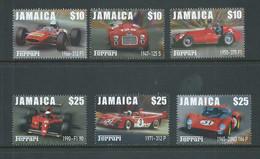 Jamaica 2000 Ferrari Racing Cars Set Of 6 MNH - Jamaica (1962-...)