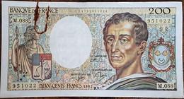 Billet 200 Francs Montesquieu 1991 FRANCE  M.088 - 200 F 1981-1994 ''Montesquieu''