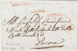 MANTOVA Per Parma 28.6.1841 - 1. ...-1850 Prefilatelia