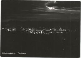 E3727 Salsomaggiore Terme (Parma) - Panorama Notturno Del Paese - Notte Nuit Night Nacht Noche / Viaggiata 1954 - Otras Ciudades
