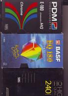 3 Cassettes K7 Videos A Re-enregistrer En Bon état : 2x 180 Mn + 1 X 240 Minutes - Other