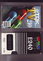 2 Cassettes K7 Videos A Re-enregistrer En Bon état : 2 X 240 Minutes - - Other