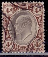 Transvaal 1902-03, King Edward VII, 4p, Scott# 257, Used - Transvaal (1870-1909)