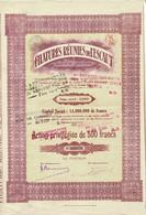Titre Ancien - Filatures Réunies De L'Escaut - Société Anonyme - Titre De 1922 - - Textil