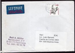 Deutschland - Circa 2000 - Brief - Luftpost - Argentinien - A1RR2 - Cartas
