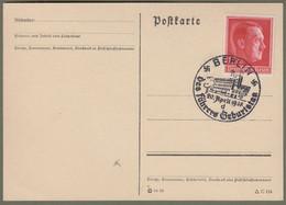 """Deutsches Reich: Sonderkarte, Postkarte Mi.-Nr. 664 SST: """" 49. Geburtstag Von Adolf Hitler """"  !   X - Storia Postale"""