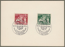 """Deutsches Reich: Sonderkarte, Postkarte Mi.-Nr. 816-17 SST: """" Hanau - Goldschmiedekunst """"  !   X - Briefe U. Dokumente"""