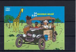 N°BL93ND Tintin (genummerd 801) MNH ** POSTFRIS ZONDER SCHARNIER COB € 350,00 SUPERBE - Non Dentelés