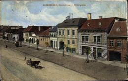 CPA Szászrégen Szasz Regen Rumänien, Mittelgasse - Romania