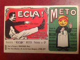 Publicité Troisvilles Paris Ecla Meto Meyer RARE Cirage - Otros Municipios