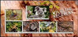 Australia (2020) - Block -  /  Wildlife Recovery - Butterflies - Birds - Lizards - Frogs - Koala - Butterflies