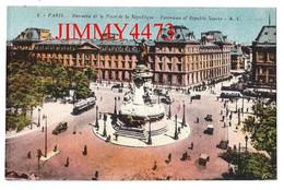 CPA - Ensemble De La Place De La République 3è 10è 11è Arr. Bien Animée - PARIS 75 Seine - A. L. - Edit. A. LECONTE N° 8 - Arrondissement: 03