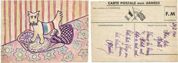 CPFM 1940 SOLDAT ALLEMAND (TEXTE) ILLUSTRATION DU SOLDAT - 1921-1960: Periodo Moderno