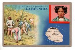"""LES COLONIES FRANÇAISES . """" LA RÉUNION """" . PUBLICITÉ CIRAGE LION NOIR - Réf. N°11089 - - Geschiedenis"""