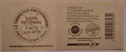 France - Carnet 590-C7 - Marianne De Beaujard TVP 20g - Salon Du Timbre 2012 - Non Plié - Definitives