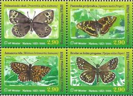 BHHB 2020-12 BUTTERFLIES, BOSNA AND HERCEGOVINA HERCEGBOSNA CROAT, 4v, MNH - Butterflies