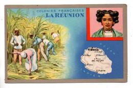 """LES COLONIES FRANÇAISES . """" LA RÉUNION """" . PUBLICITÉ CIRAGE LION NOIR - Réf. N°11092 - - Geschiedenis"""