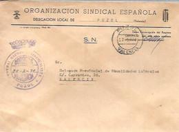 CENTRAL NACIONAL  SINDICALISTA  1970   PUZOL - Franquicia Postal