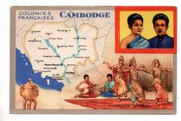 """LES COLONIES FRANÇAISES . """" LE CAMBODGE """" . PUBLICITÉ CIRAGE LION NOIR - Réf. N°11093 - - History"""