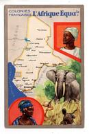 """LES COLONIES FRANÇAISES . """" L'AFRIQUE ÉQUATORIALE """" . PUBLICITÉ CIRAGE LION NOIR - Réf. N°11102 - - Geschiedenis"""