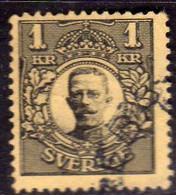 SWEDEN SVERIGE SVEZIA SUEDE 1910 1919 KING GUSTAV V RE 1K USATO USED OBLITERE' - Oblitérés