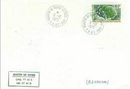 FSAT. TAAF. Plis SPA 03.12.75. Dos Jauni Par La Colle. PO 52 (61 FCFA) & 24.11.2014 T. MD - Covers & Documents