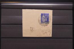 FRANCE - Oblitération Cercle Rayé Sur Type Paix Sur Fragment Taxé En 1937 - L 79150 - 1921-1960: Période Moderne