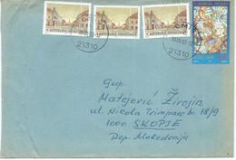 Croatia Omis Letter Via Macedonia 2003.nice Stamp Motive Christmas 1997 - Croazia