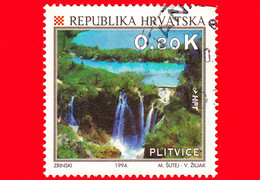 CROAZIA - Usato - 1994 - Turismo - Cascate - UNESCO - Parco Nazionale Dei Laghi Di Plitvice - 0.80 - Croazia