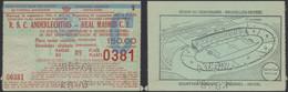 Belgique - Ticket De Match De Foot R.S.C. Anderlechtois - Real Madrid C.F. (26/09/1962) , Stade Centenaire à Bruxelles ( - Biglietti D'ingresso