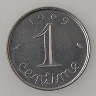 France, 1 Centime 1969 Queue Longue, SUP, KM#928 . - A. 1 Centime