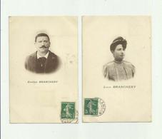 33 - LANGON - 4 CP - Les Assasins Du Crime De.. Eugene Et Lucia BRANCHERY , Henri PARROT , Joseph GASOL Bon Etat - Langon