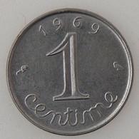 France, 1 Centime 1969 Queue Longue, SUP/SUP, KM#928 . - A. 1 Centime