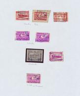Chemin De Fer - Page De Collection : Cachet Chemin De Fer (firme) Mixte, Firme à Examiner (Kwatta,...) - 1923-1941
