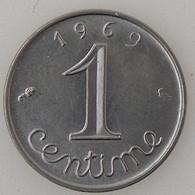 France, 1 Centime 1969 Queue Longue , SUP/SUP, KM#928 . - A. 1 Centime