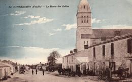 Thematiques 85 Vendée St Mathurin La Route Des Sables Daté Main 1930 - Sonstige Gemeinden