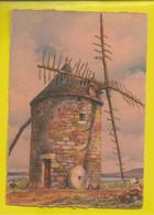 CP Illustré Par BARDAY - Nos Vieux Moulins à Vent. En Bretagne, à La Pointe Du Van  - Edition  BARRE-DAYEZ N° 2913 L - Barday