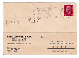 Emil Zippel & Co., Hamburg 2 Company Postcards Posted 1932/33 To Nich (Niš) B201110 - Brieven En Documenten