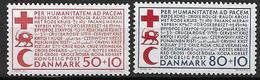 Danemark 1966 N° 445/446 Neufs** Surtaxe Pour La Paix, Croix Rouge - Ungebraucht
